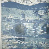 Kangastus 1, puupiirros, 2004