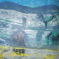 Kangastus 2, puupiirros, 2004