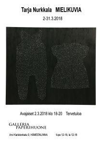 Tarja Nurkkala näyttelyjuliste ja kutsu