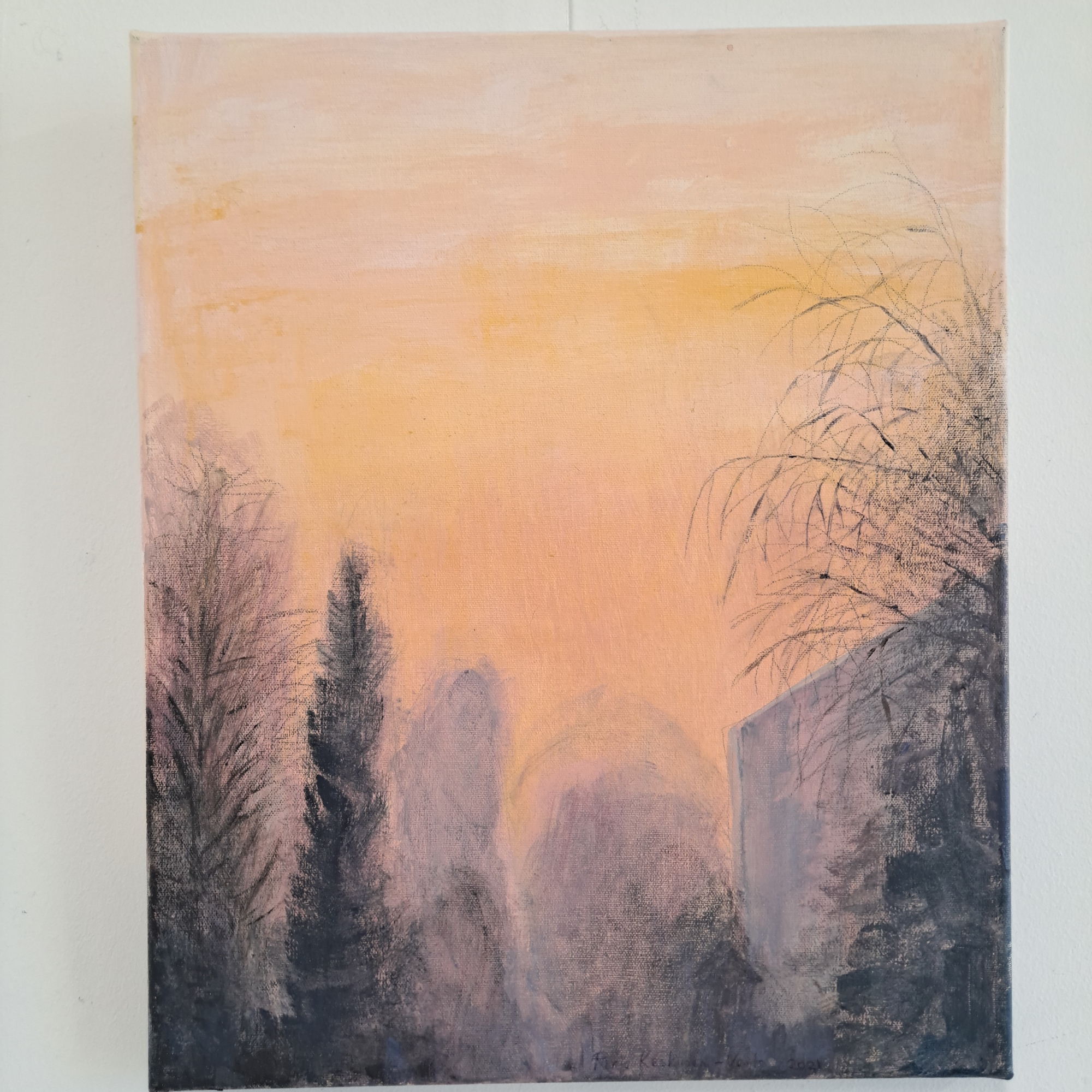 maalaus taide akryyli paperihuone